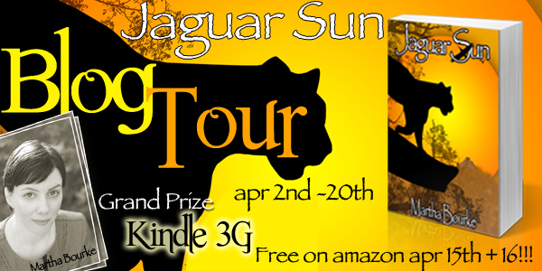Blog Tour: Jaguar Sun by Martha Bourke Interview and Giveaway
